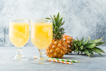 Cold pineapple cocktail