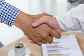 Business people shake hand in meeting