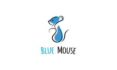 Blue mouse vector image