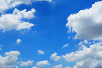 Air clouds in the clear blue sky background  with sunny on summer time