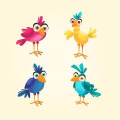 Aves dibujos animados