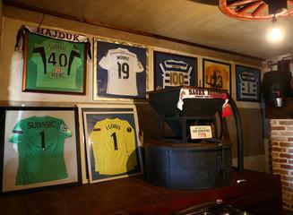 Jerseys are seen in Danijel Subasic parents' house in Zagrad