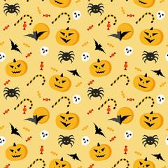 Seamless halloween vector pattern