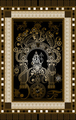 Graphical illustration of a Tarot card 10
