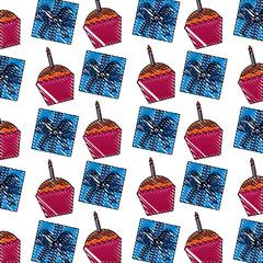 birthday cupcake gift box party celebration pattern
