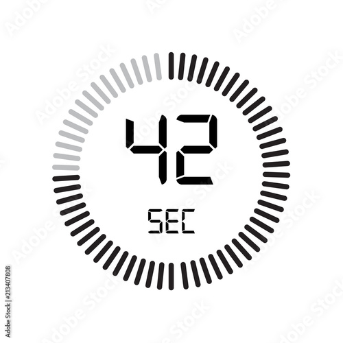 the 42 seconds icon digital timer clock and watch timer