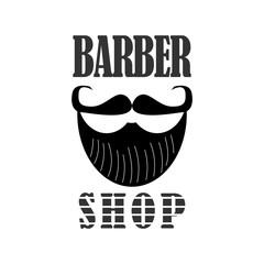 Barbershop logo design. Barber's inscription. Vector illustration.