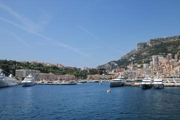View of La Condamine ward and Port Hercules in Monaco.