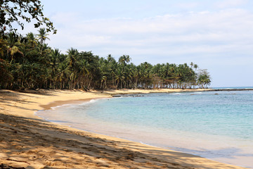Jale Beach on the tropical island of Sao Tome and Principe