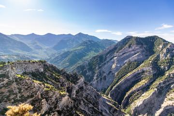 Beautiful view from mountain peak in Utah