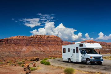 Photo sur Plexiglas Camping RV canyonlands