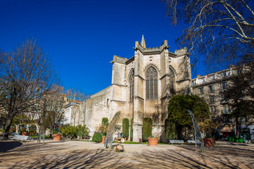 Saint Martial Temple at  the Agricol Perdiguier Square in Avignon France Wall mural