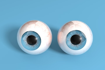 Eyes with blue background