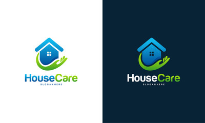 House Care logo designs concept vector
