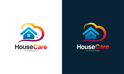 House Care logo designs concept vector, Home and love logo template