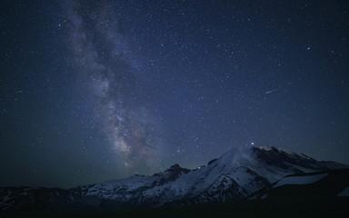 Milky Way Over Mount Rainier
