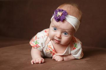 Portrait of adorable baby girl
