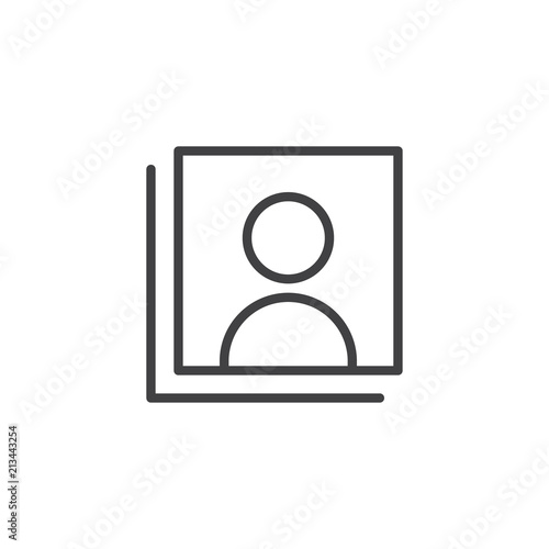 Add User outline icon  linear style sign for mobile concept and web
