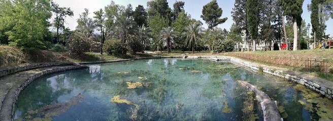 Telese - Panoramica della piscina delle antiche terme