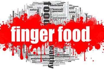 Finger food word cloud