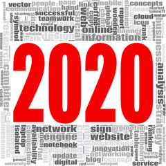 2020 Internet Technology word word cloud