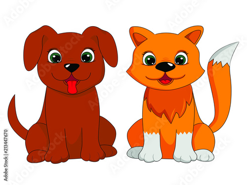 Vector Clipart Dog Cat Stock Image And Royalty Free Vector Files On
