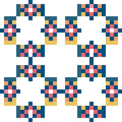 Colorful pixel pattern. Pastel  vector illustration EPS10.