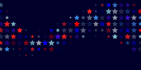 Abstract  background from red, blue, white stars
