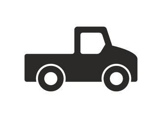 Car icon, Monochrome style. isolated on white background