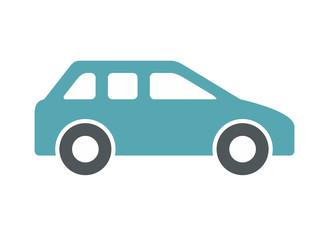 Car icon, Monochrome style. isolated on white background