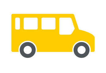 Bus Icon, Flat style. isolated on white background