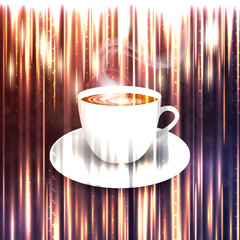 beautiful background with a cup of coffee. Vector