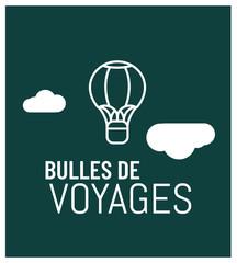 logo pour montgolfière, balades, baptêmes et randonnées