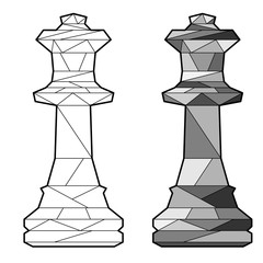 Outline chess queen