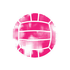 Pink halftone water polo ball