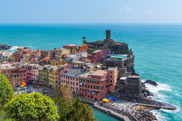 Vernazza, one of colorful villages of Cinque Terre, Italy