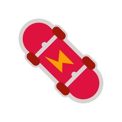 Skateboard icon vector icon. Simple element illustration. Skateboard symbol design. Can be used for web and mobile.