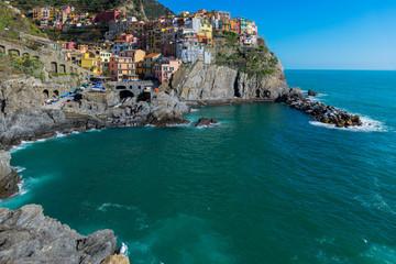 Manarola, one of colorful villages of Cinque Terre, Italy
