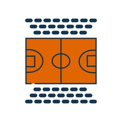 Basketball court icon vector icon. Simple element illustration. Basketball court symbol design. Can be used for web and mobile.