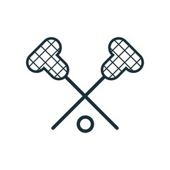 Lacrosse icon vector icon. Simple element illustration. Lacrosse symbol design. Can be used for web and mobile.