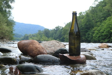 Picture of a glass bottle.