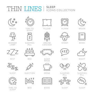 Collection of sleep related icons