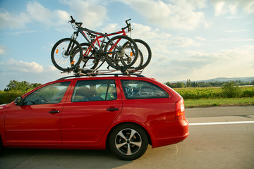bikes on a trunk