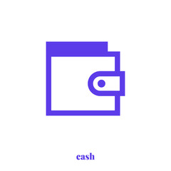 Cash icon vector. Modern, simple flat vector illustration for web site or mobile app