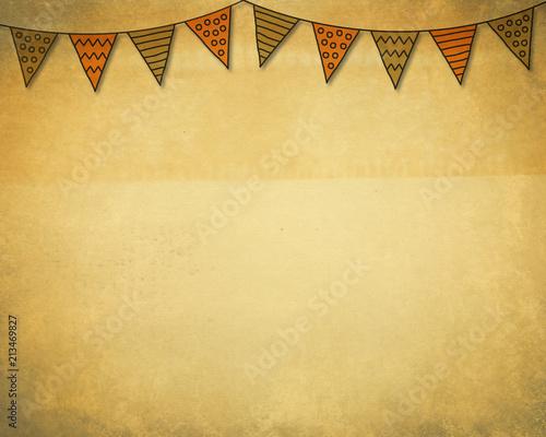 vintage halloween bunting template\