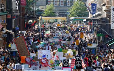 Protest ahead of Trump-Putin meeting in Helsinki