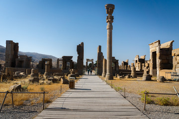 Persepolis in Iran. View of the ancient ruins