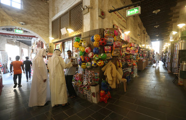 General view of Souk Waqif in Doha
