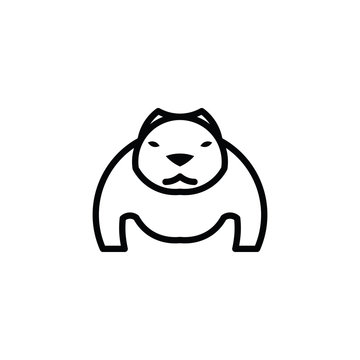 Pitbull vector icon