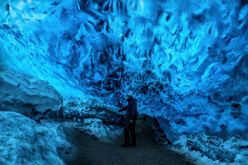 In the ice cave